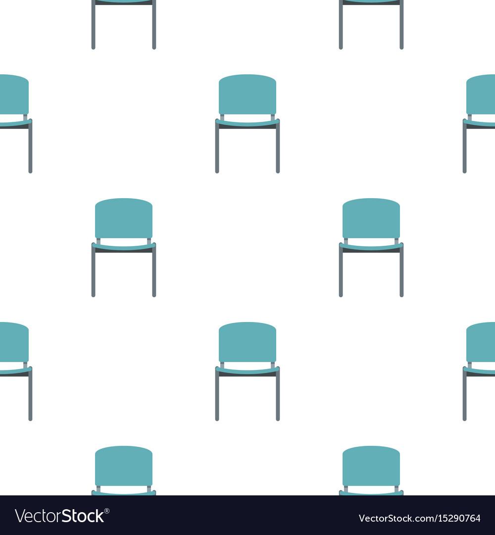 Blue office metal chair pattern flat