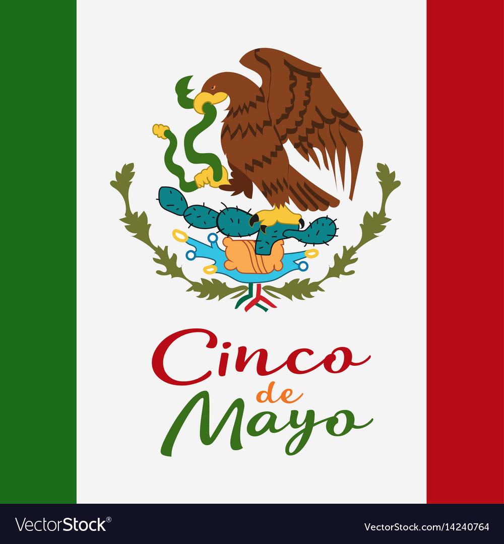 Cinco de mayo poster design symbol of the mexican