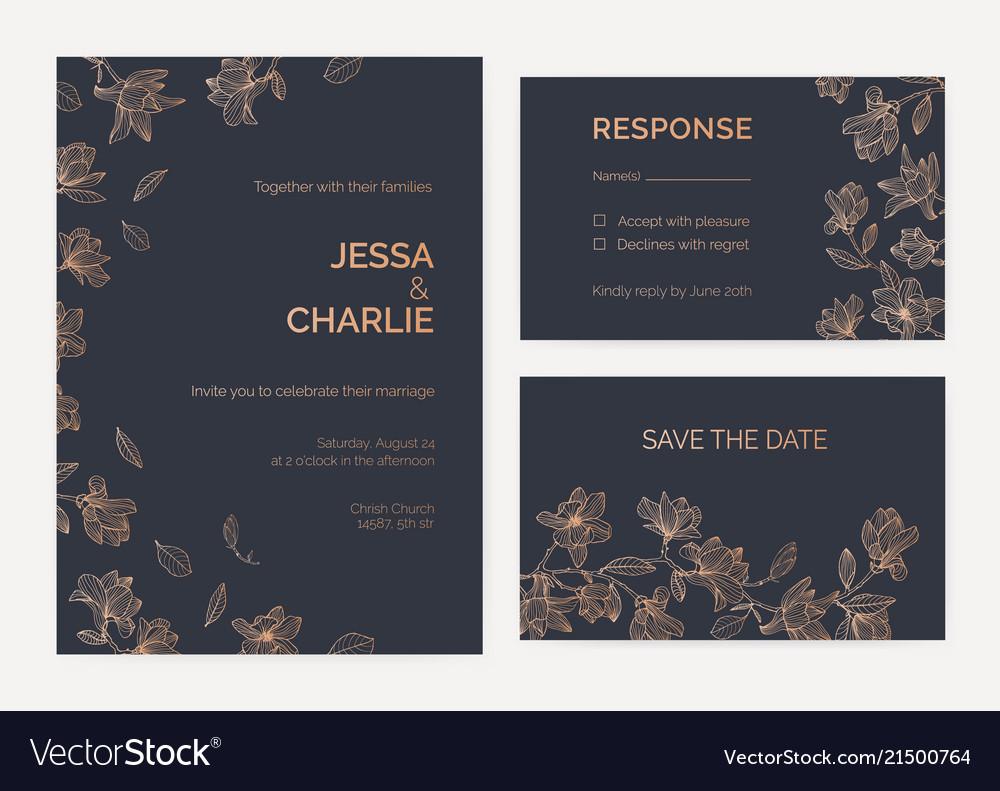 Wedding Invitation And Response Card