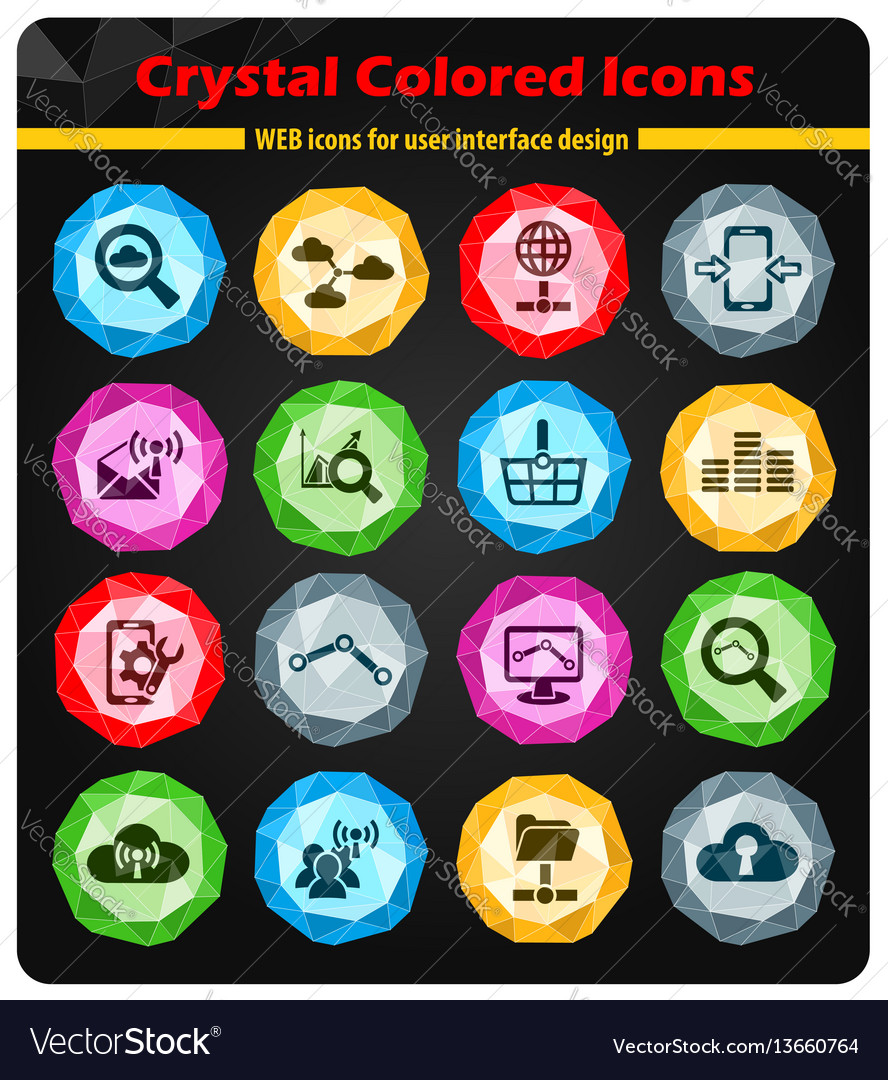 Data analytic and social network icon set