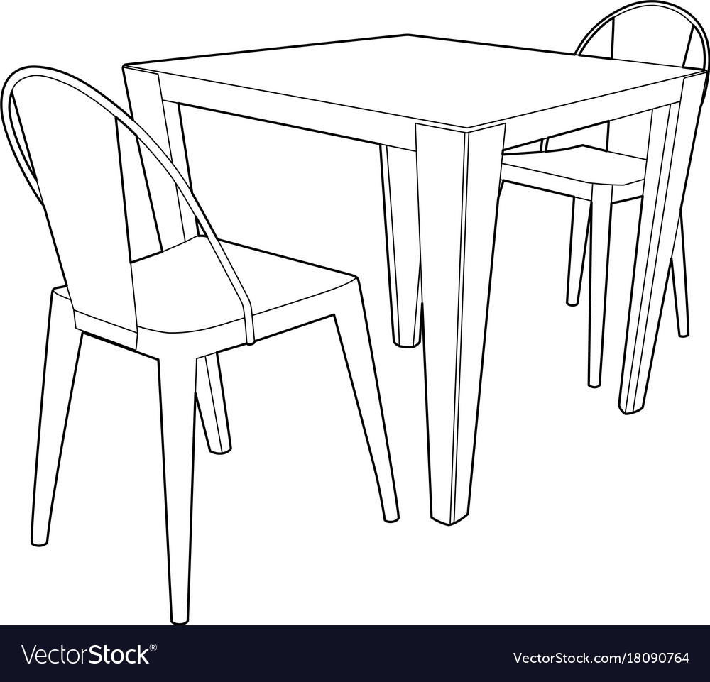 Miraculous Drawing Of A Table And Two Chairs Onthecornerstone Fun Painted Chair Ideas Images Onthecornerstoneorg