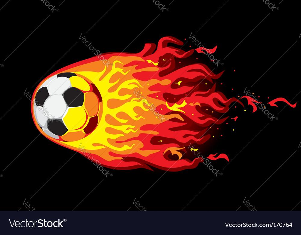Fire soccer ball