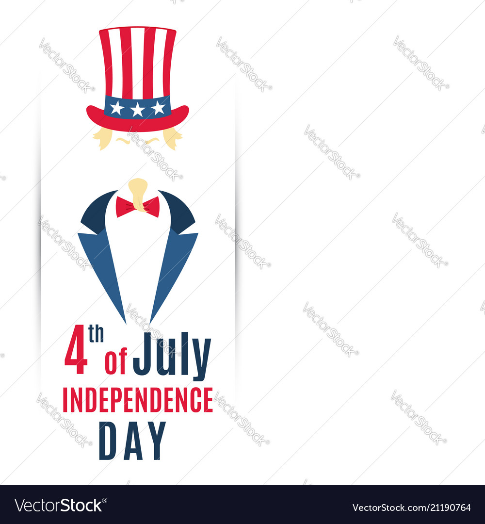 Greeting banner for 4th of july usa independence