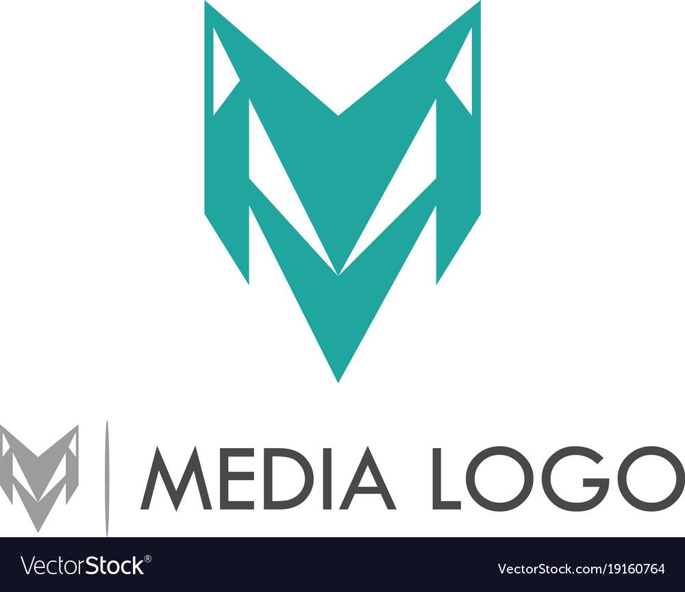 Letter m media logo