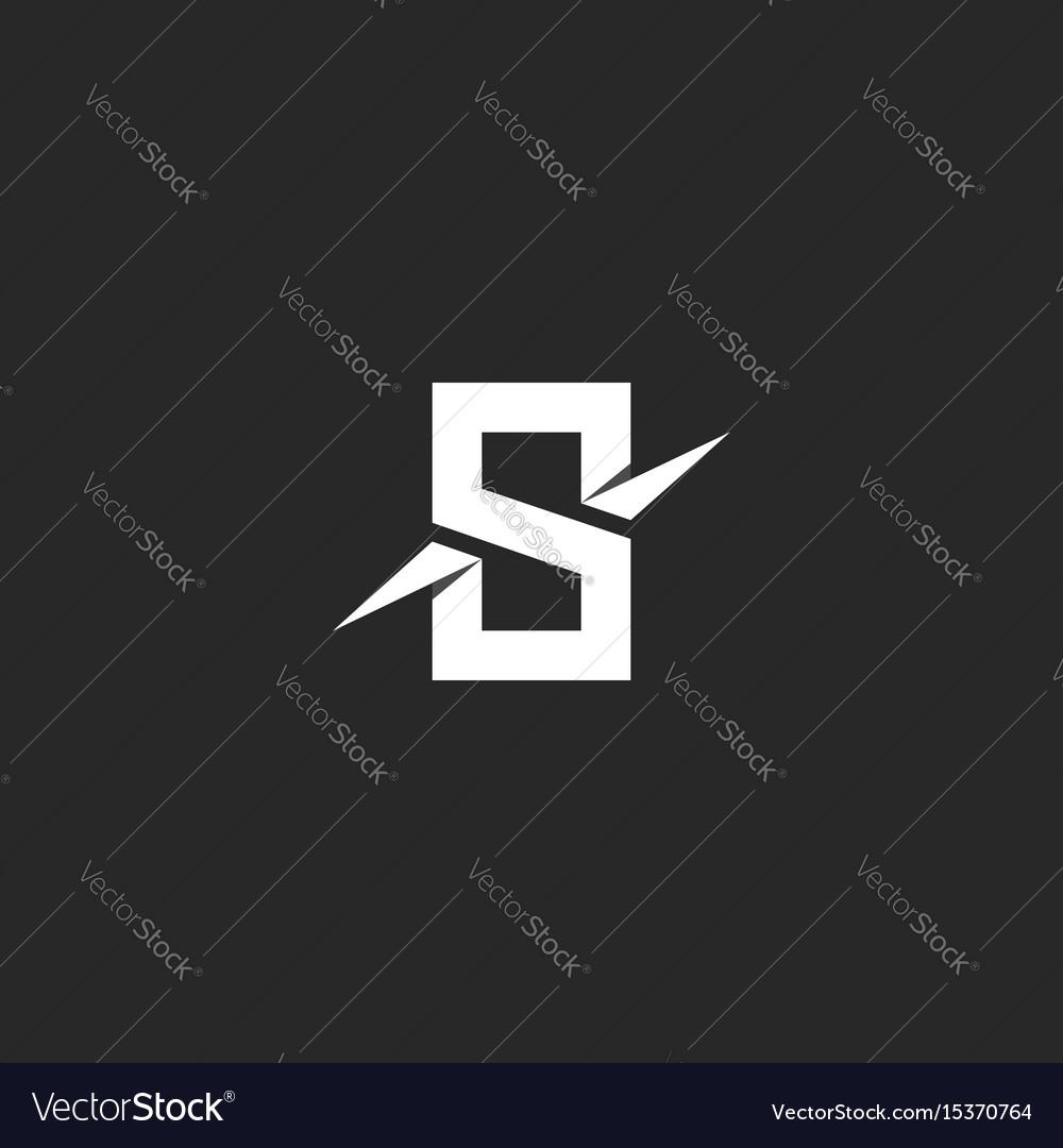 Letter s logo paper material design style