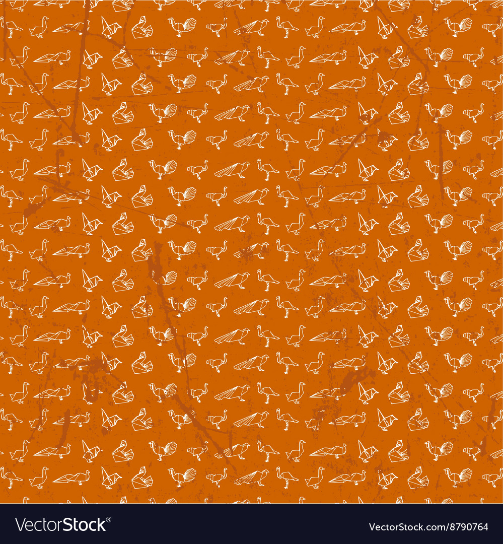 Origami seamless pattern design