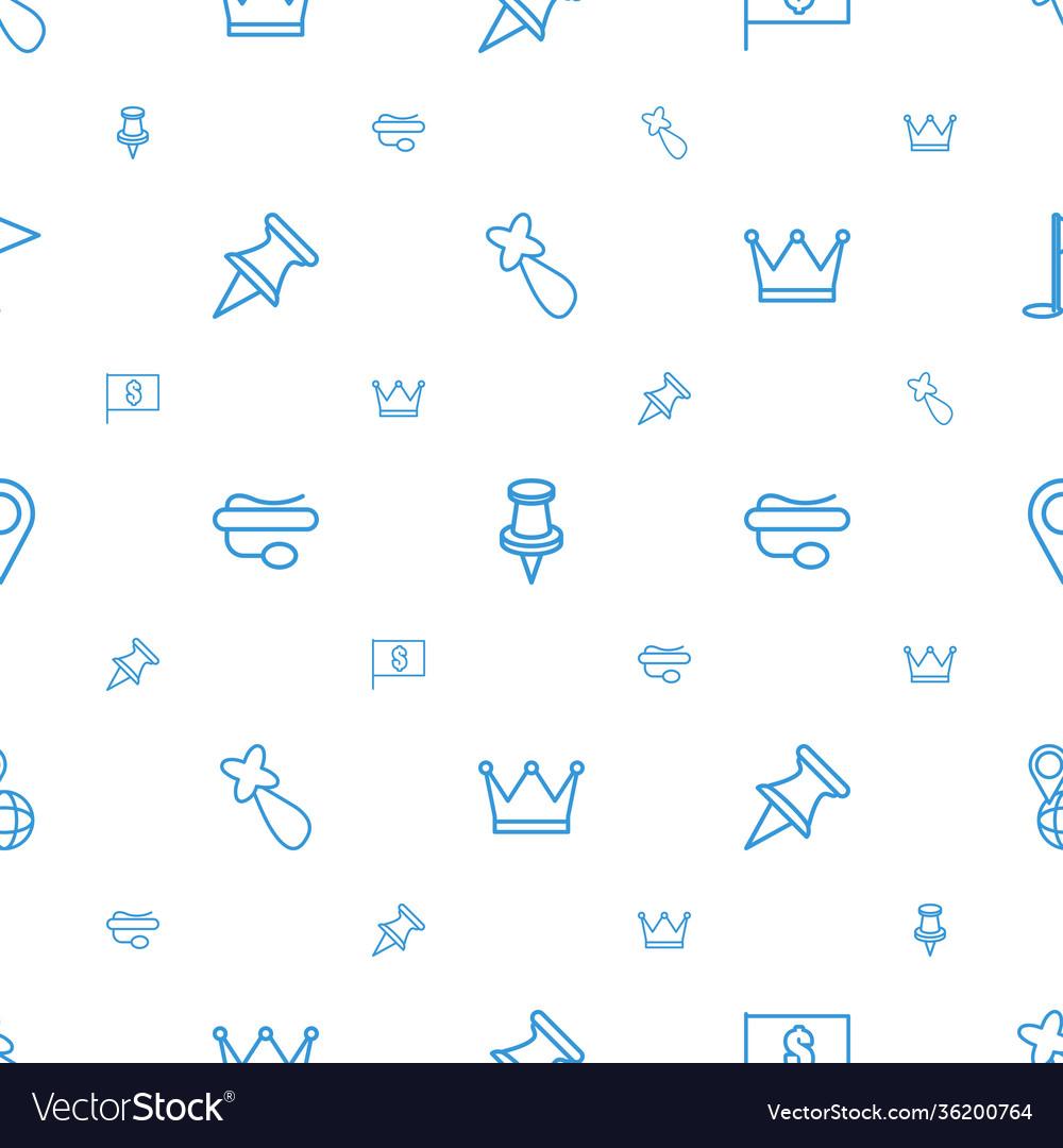 Pin icons pattern seamless white background