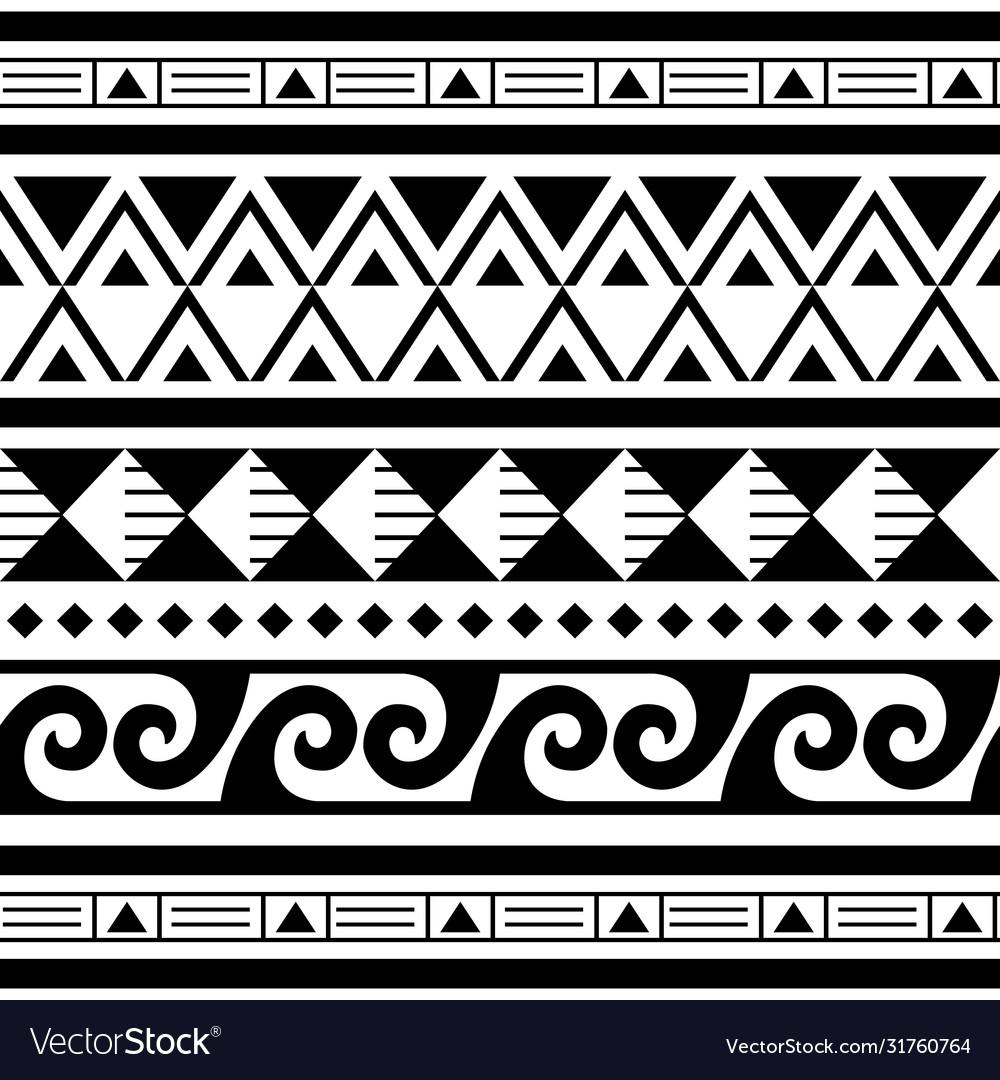 Polynesian maori tattoo seamless geometric