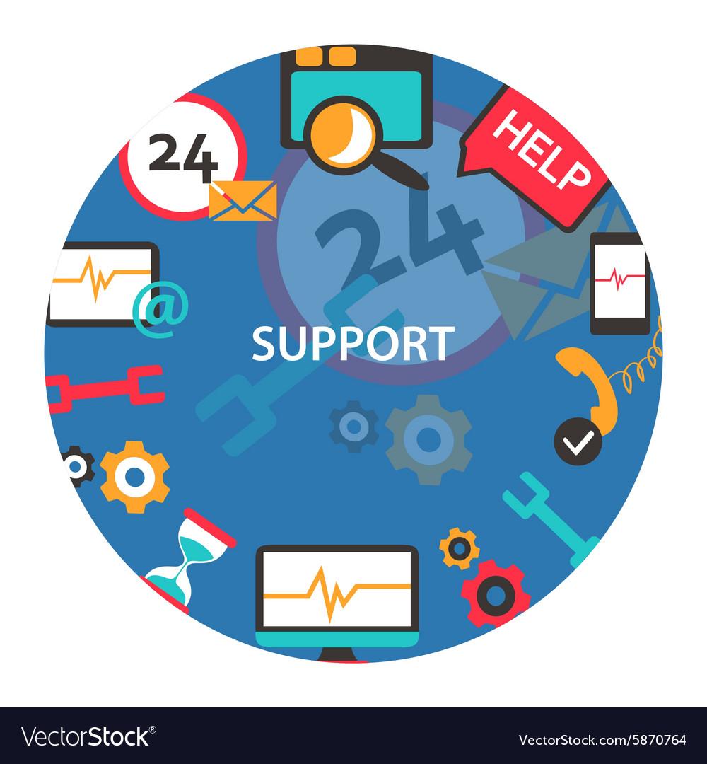 Support center emblem