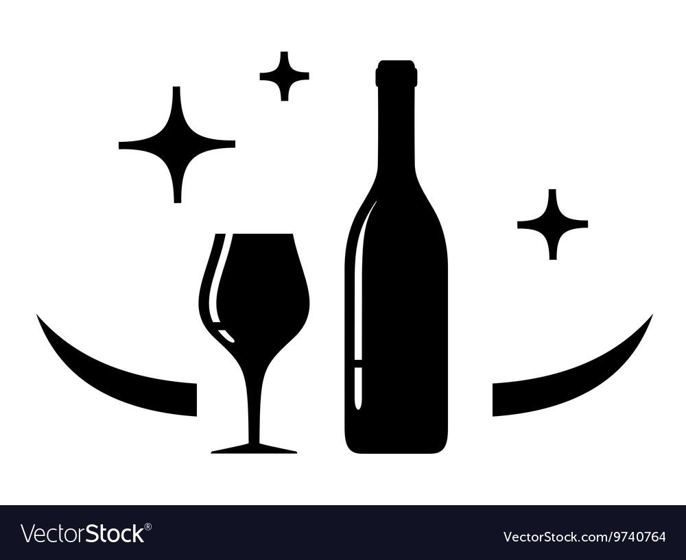 Wine card symbol vector image