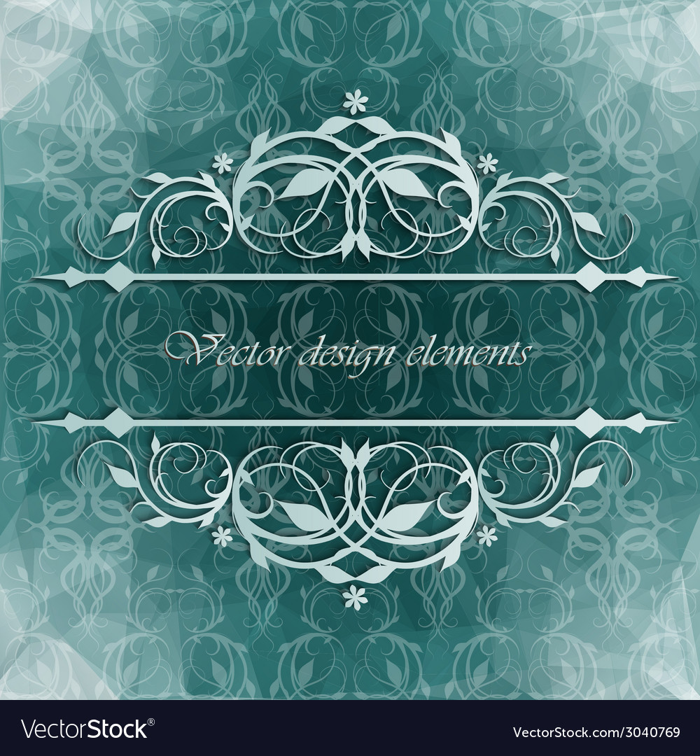 Beautiful background with floral pattern