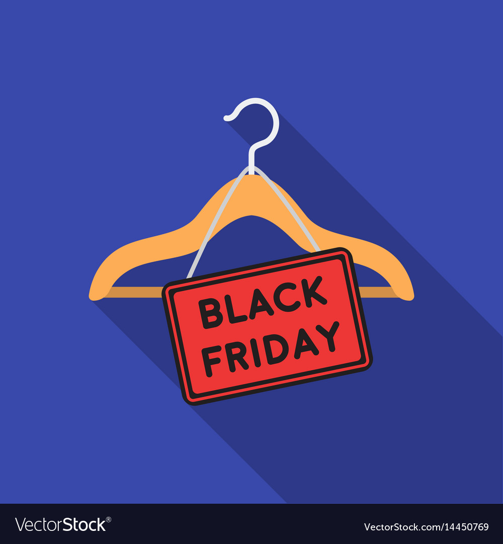 Black friday sale icon in flat style isolated on