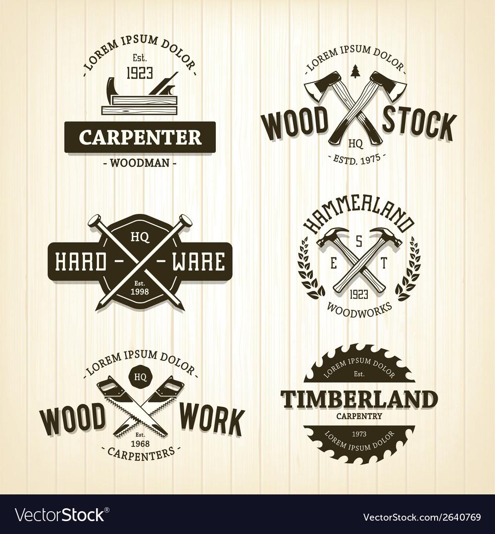 Carpentry Emblems 1