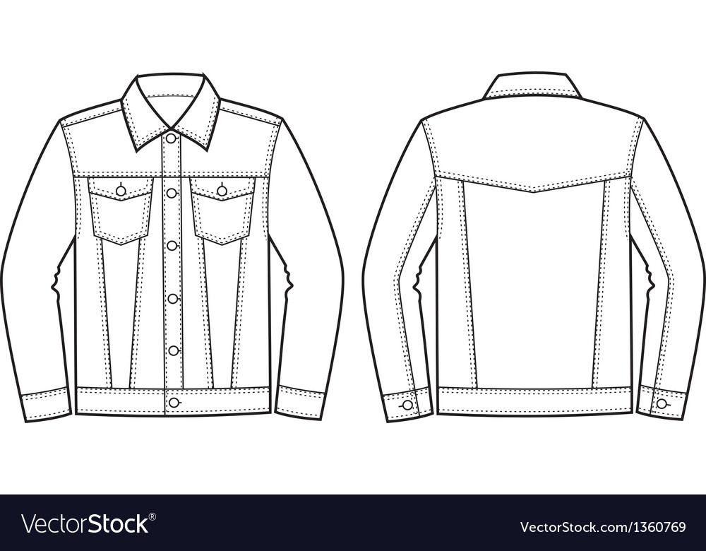Jeans Jacket Royalty Free Vector Image Vectorstock