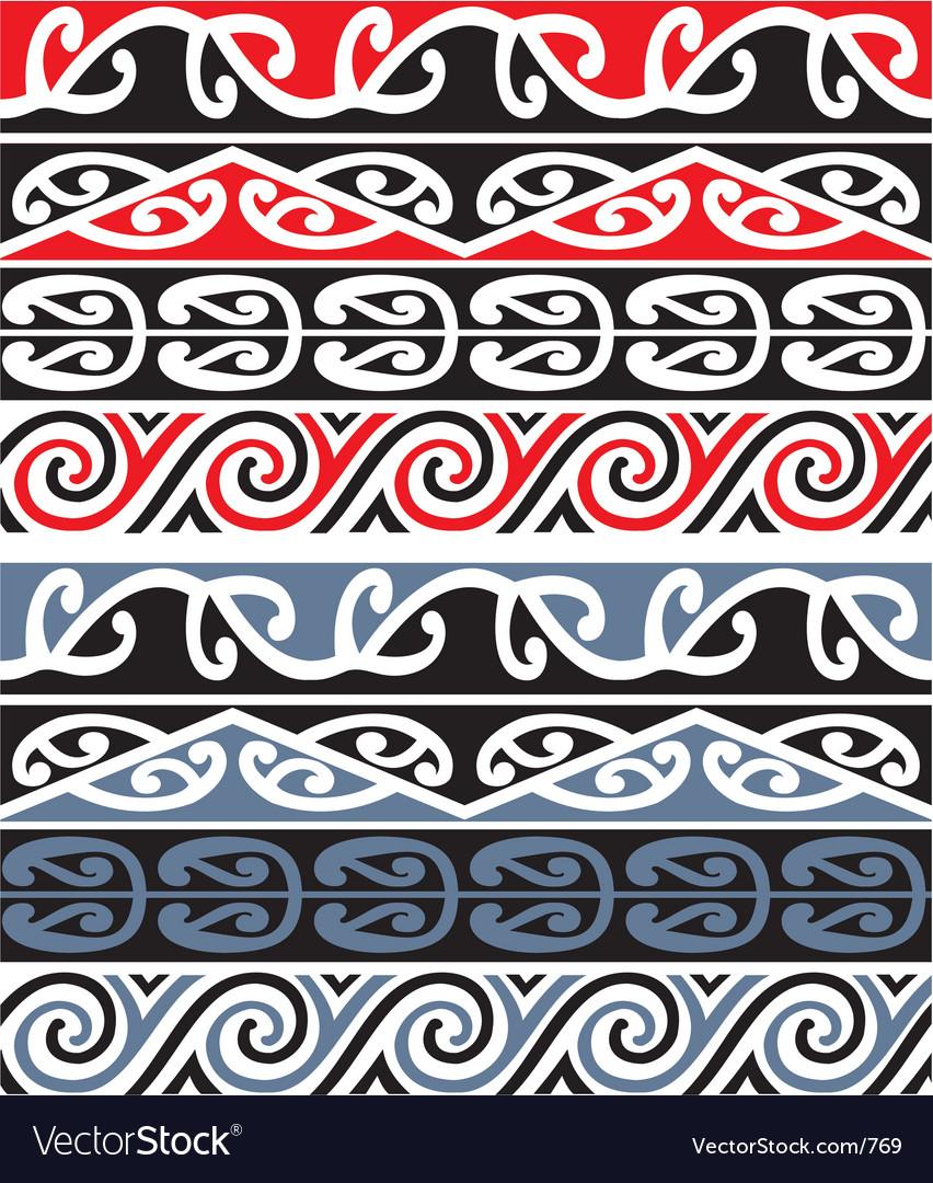 c314f027f576d Maori designs Royalty Free Vector Image - VectorStock
