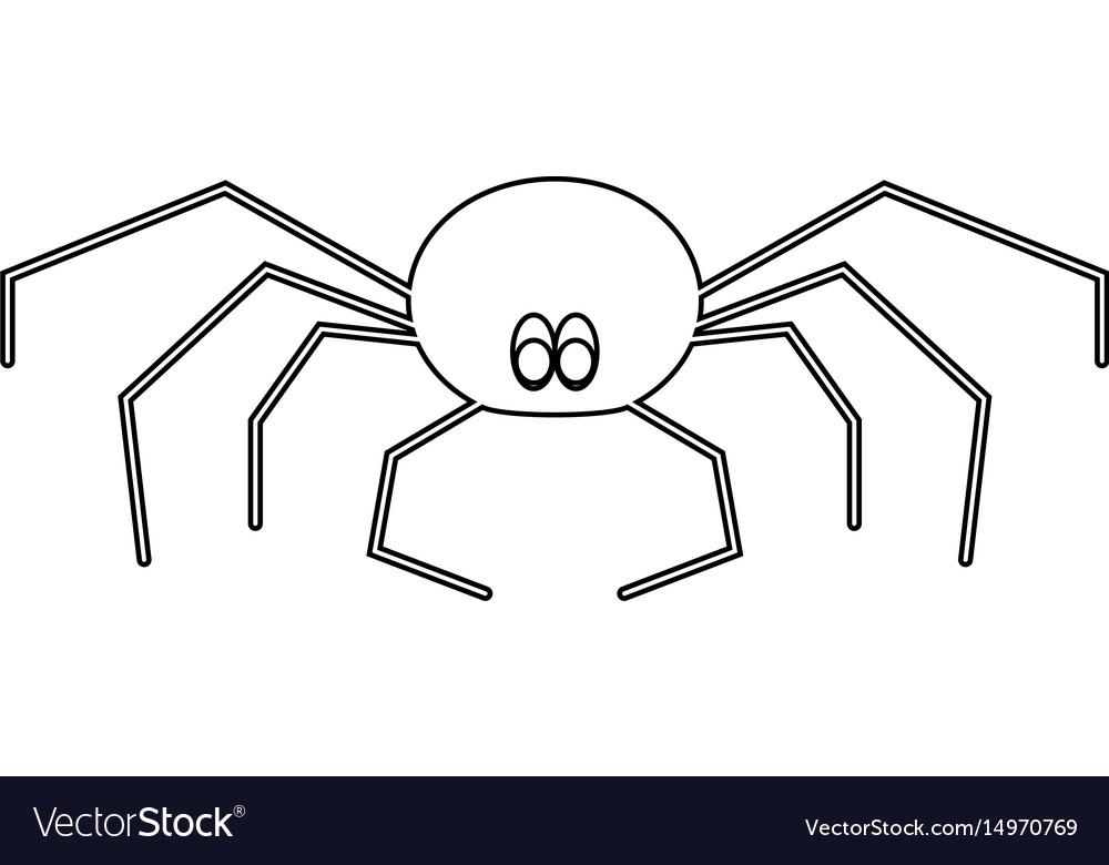 Spider the black color icon vector image