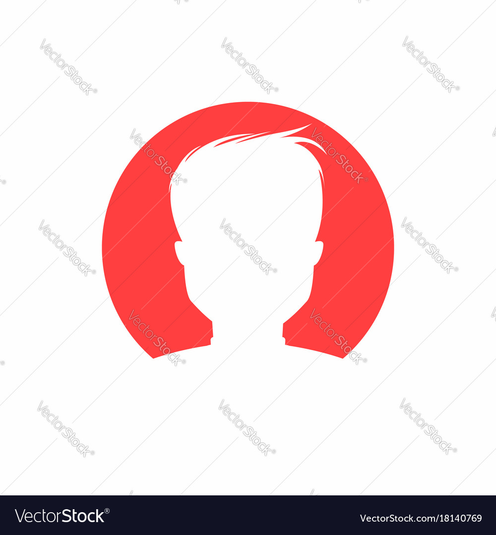 User icon simple man silhouette for app website