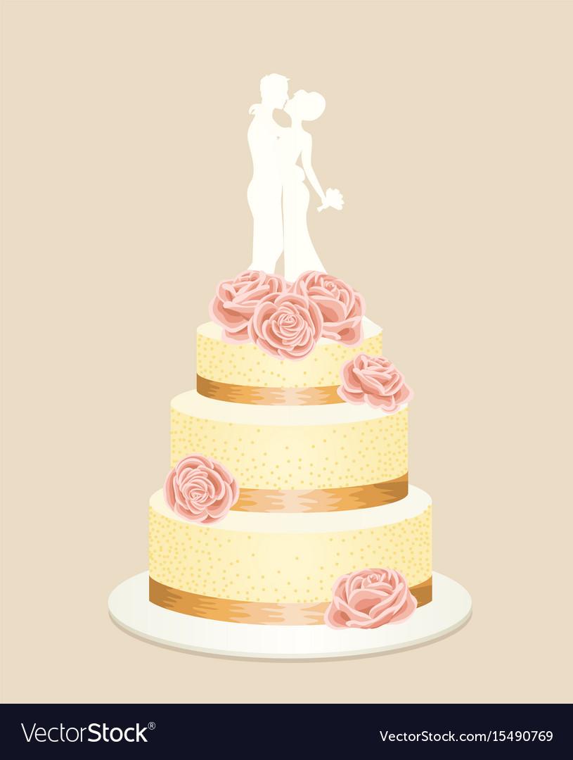 Wedding cake Royalty Free Vector Image - VectorStock