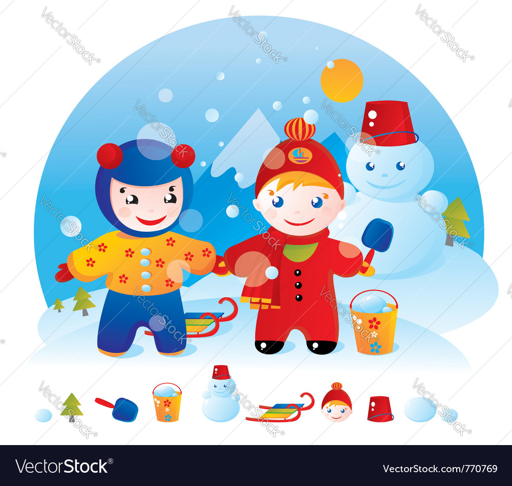 winter walk royalty free vector image vectorstock winter walk royalty free vector image vectorstock