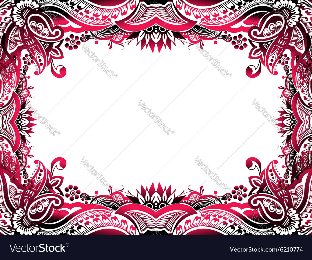 Abstract floral border background