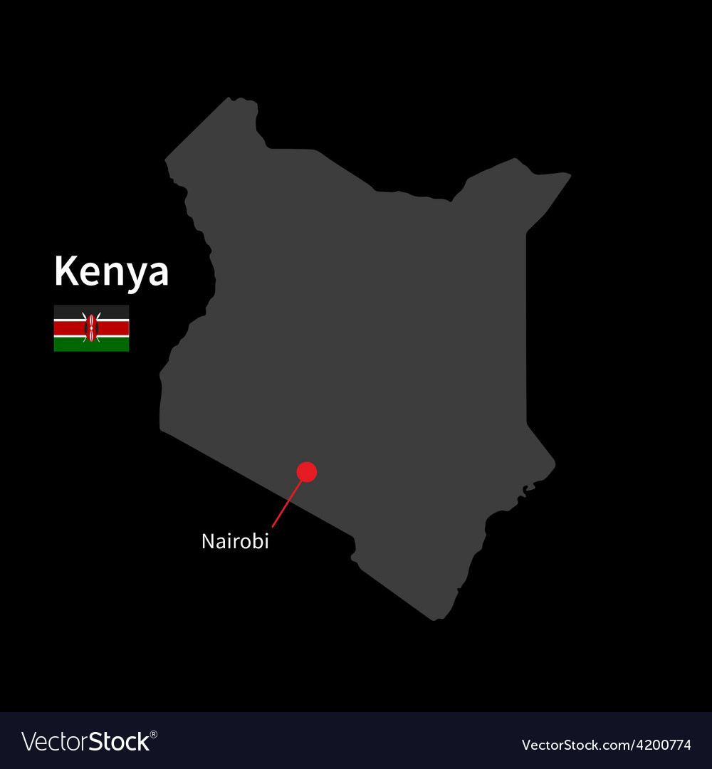 Detailed map of Kenya and capital city Nairobi