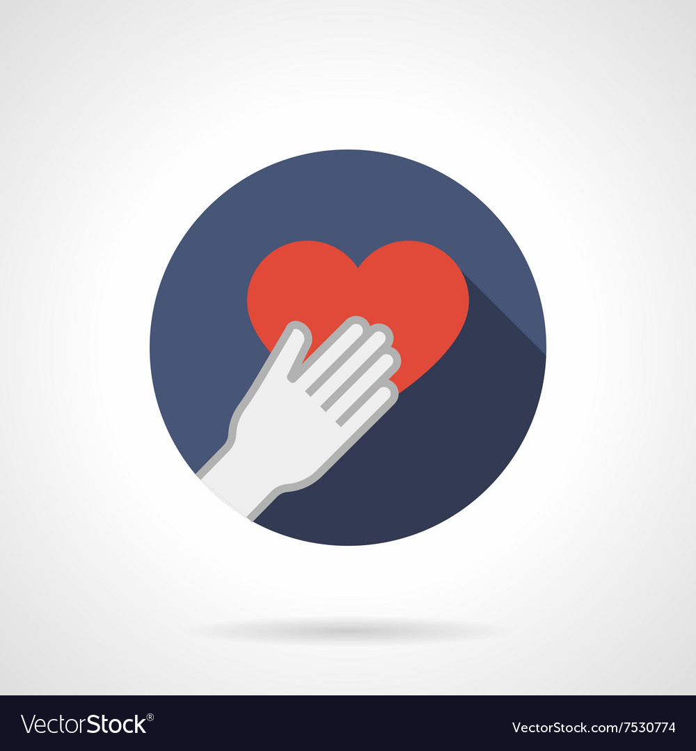 Give heart colorful round flat icon