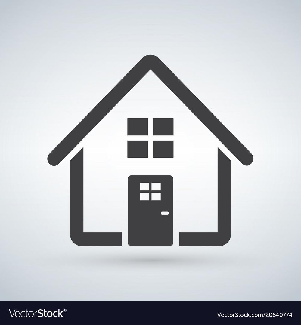 Home icon house enter welcome concept building