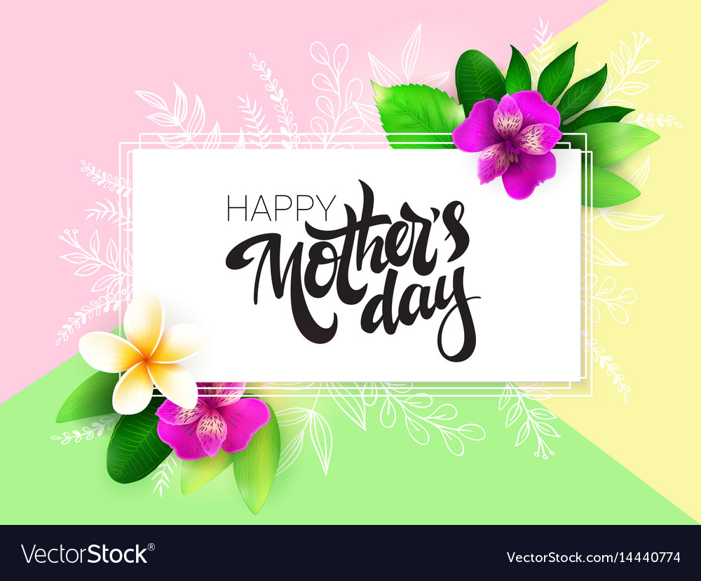 Mothers Day Greetings Card With Hand Royalty Free Vector
