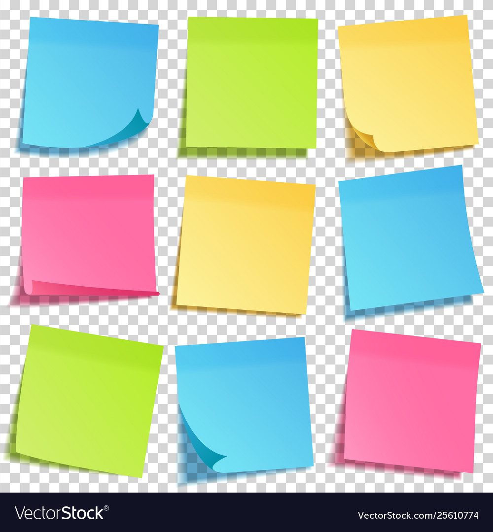 Realistic sticky note with shadow yellow paper