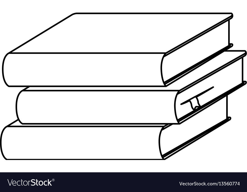 silhouette set stack school books icon royalty free vector