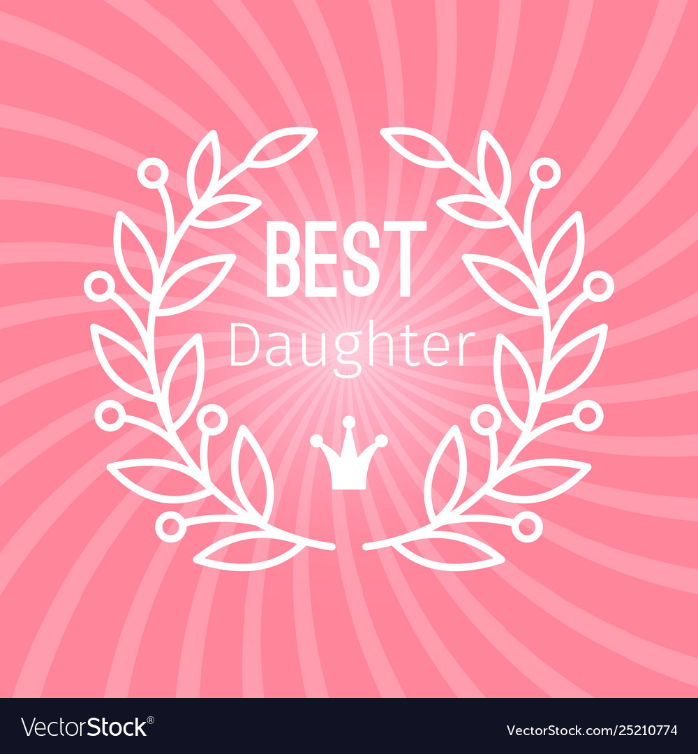Wreath award best daughter