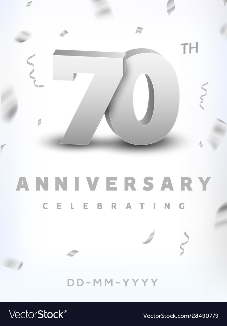 70 years silver number anniversary celebration