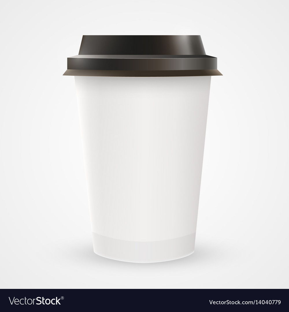 close up of blank paper coffee cup royalty free vector image