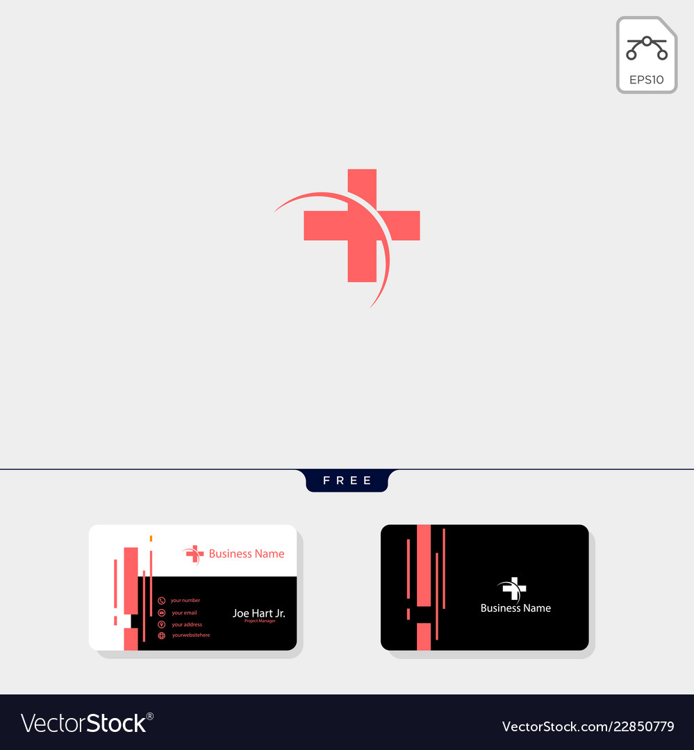 Cross medical pharmacy logo design template get