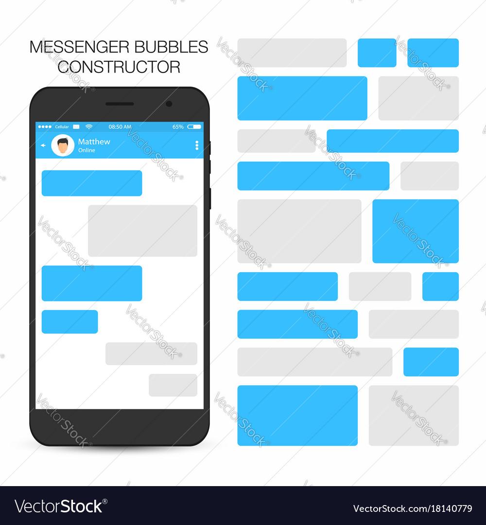 Messenger and social network concept speech vector image