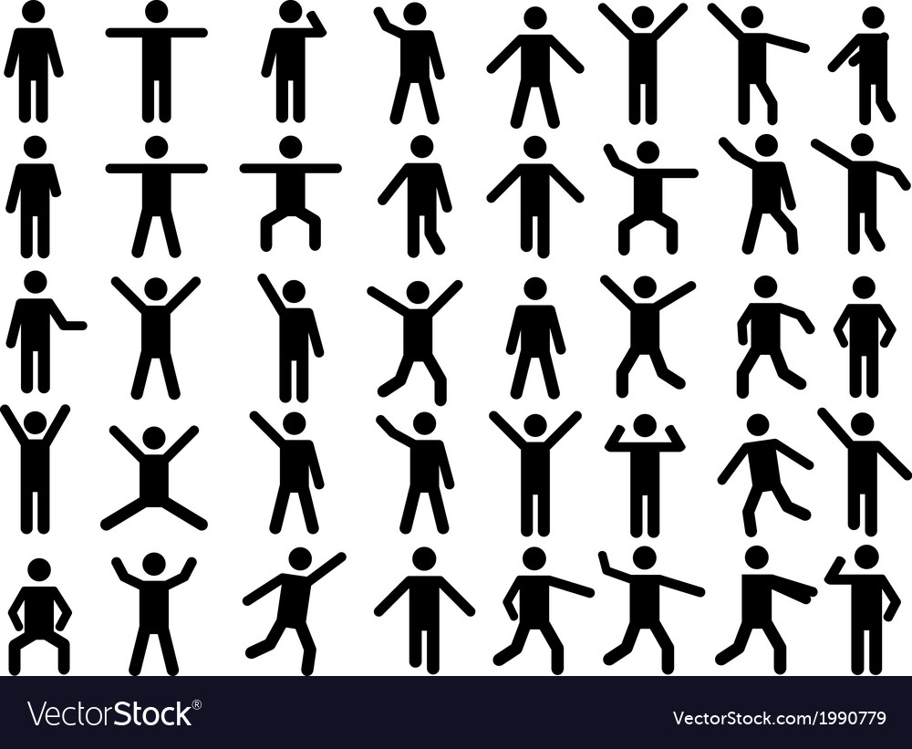 Pictogram people vector image