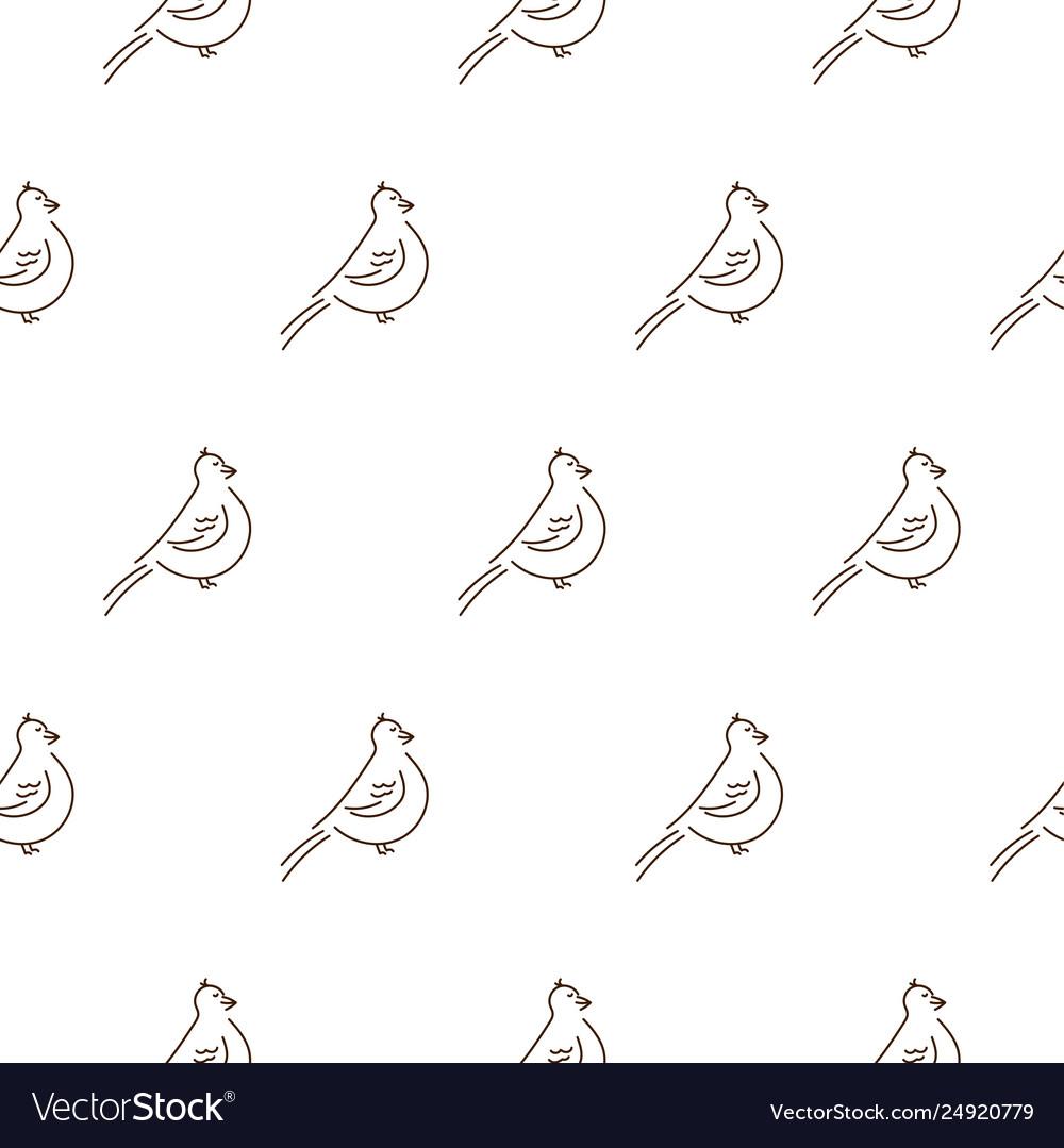 Simple line style birds seamless pattern on