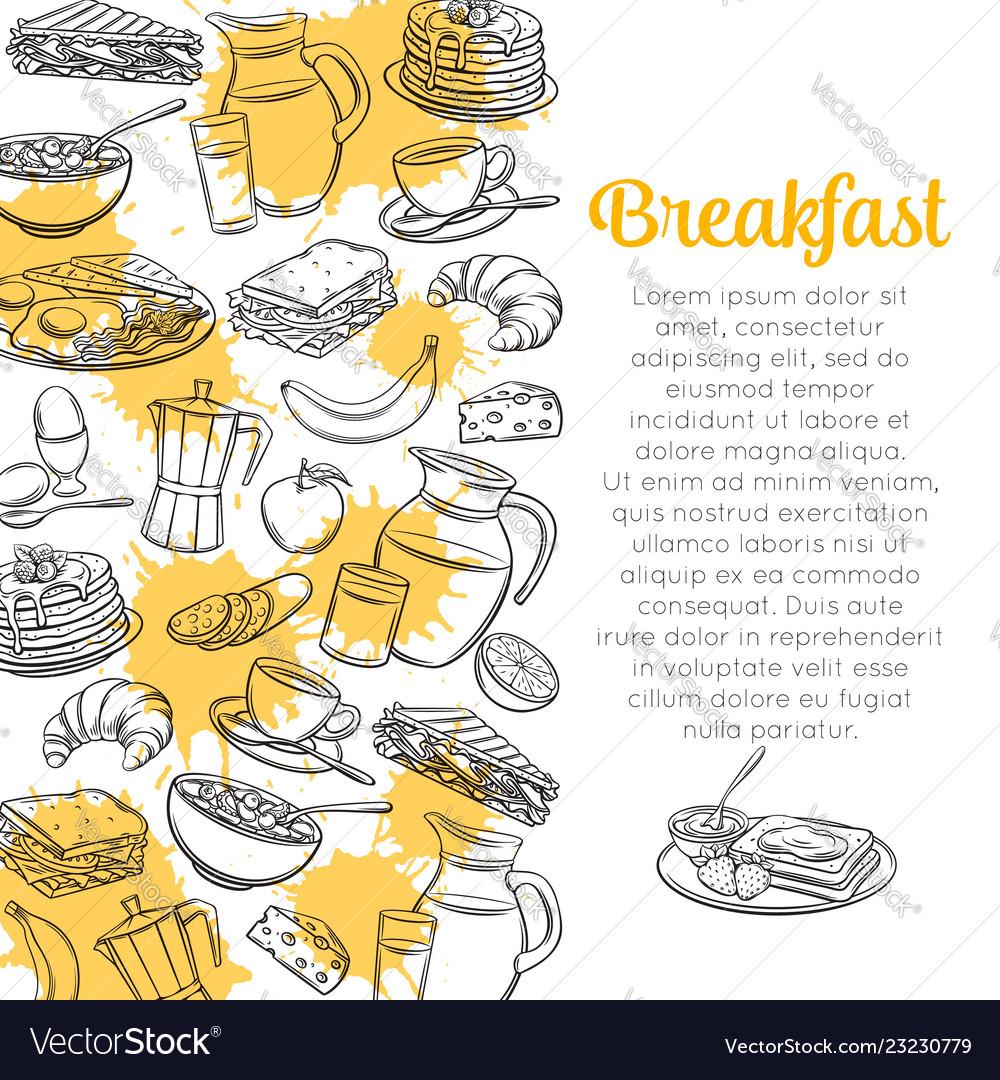 Sketch breakfast layout
