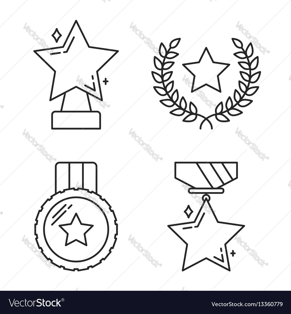 Stars line icons