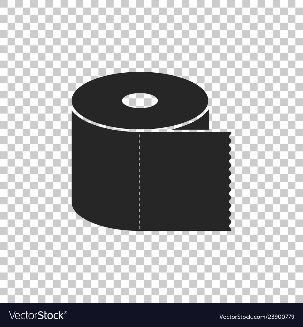 Toilet paper roll icon on transparent background vector image on VectorStock