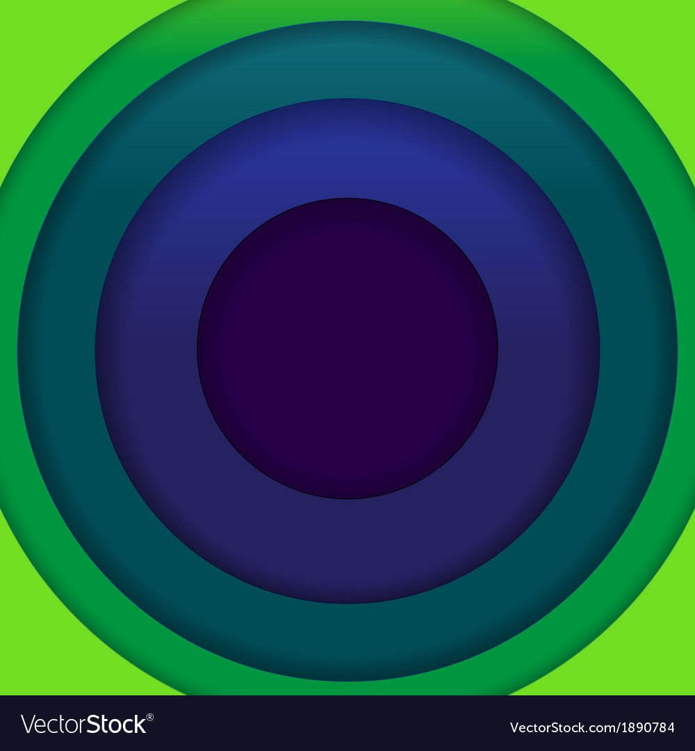 Abstract blue and green paper circles background vector image