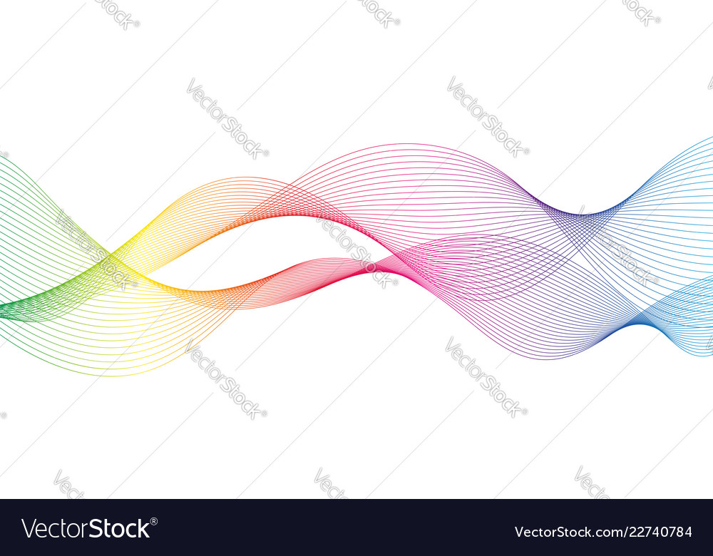Abstract wave of the many colored lines