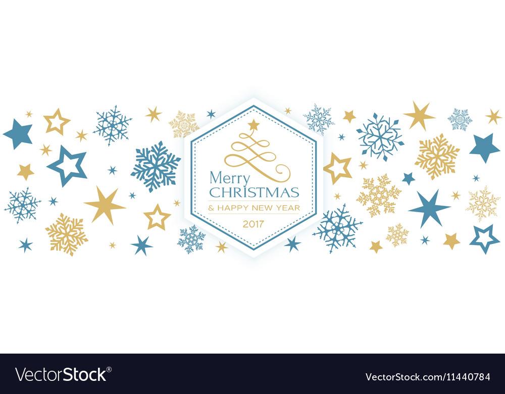 Blue golden snowflake Merry Christmas