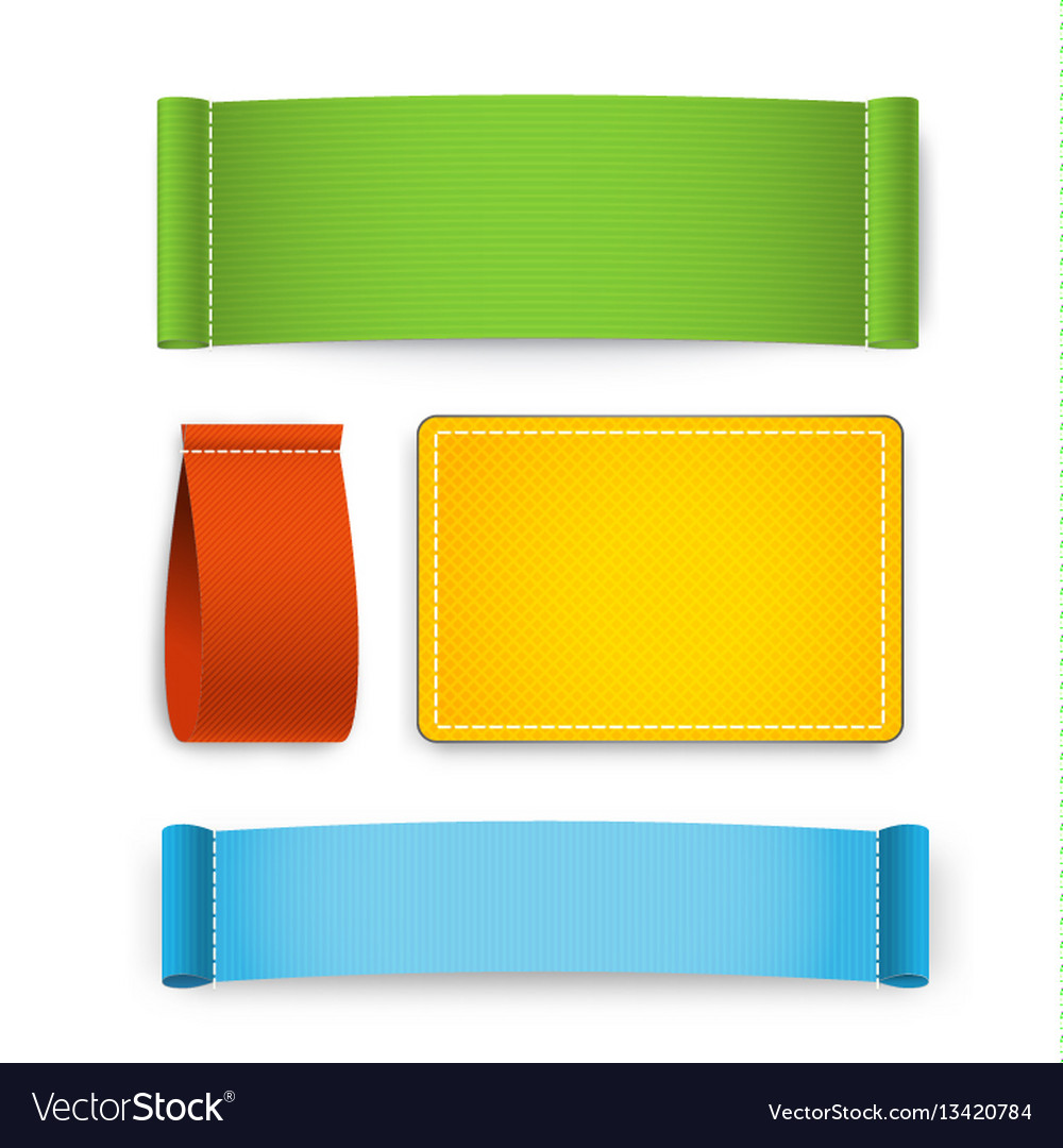 Colorful clothing label set