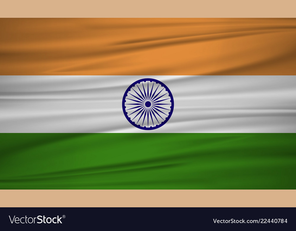 India flag flag of india blowig in the wind eps