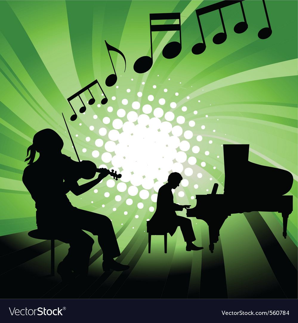 Musical group vector image