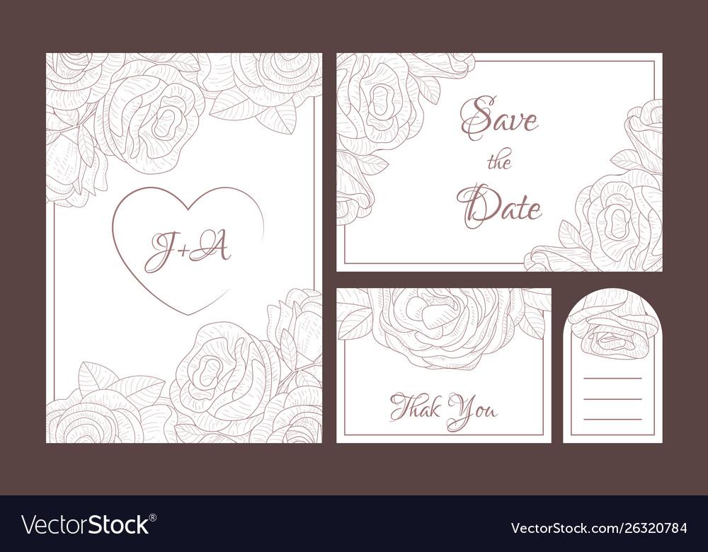Save date elegant wedding invitation templates
