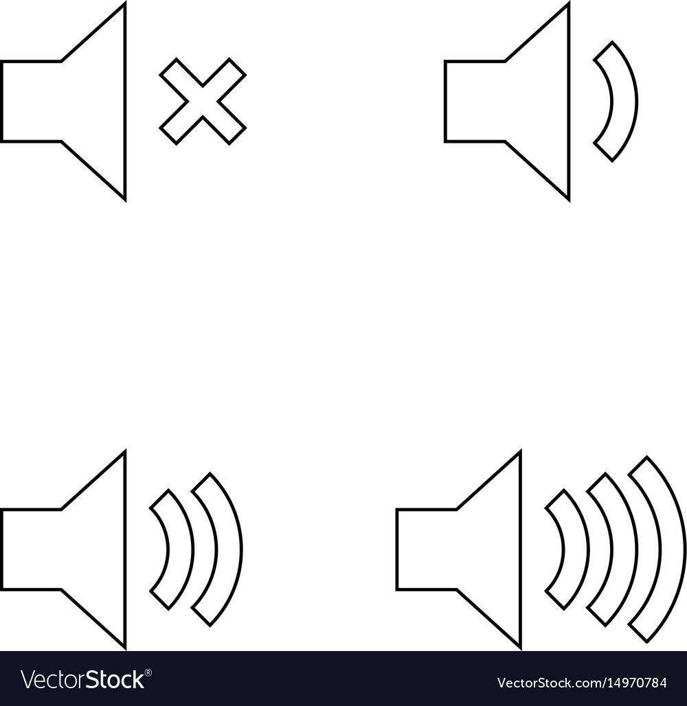 Volume the black color icon