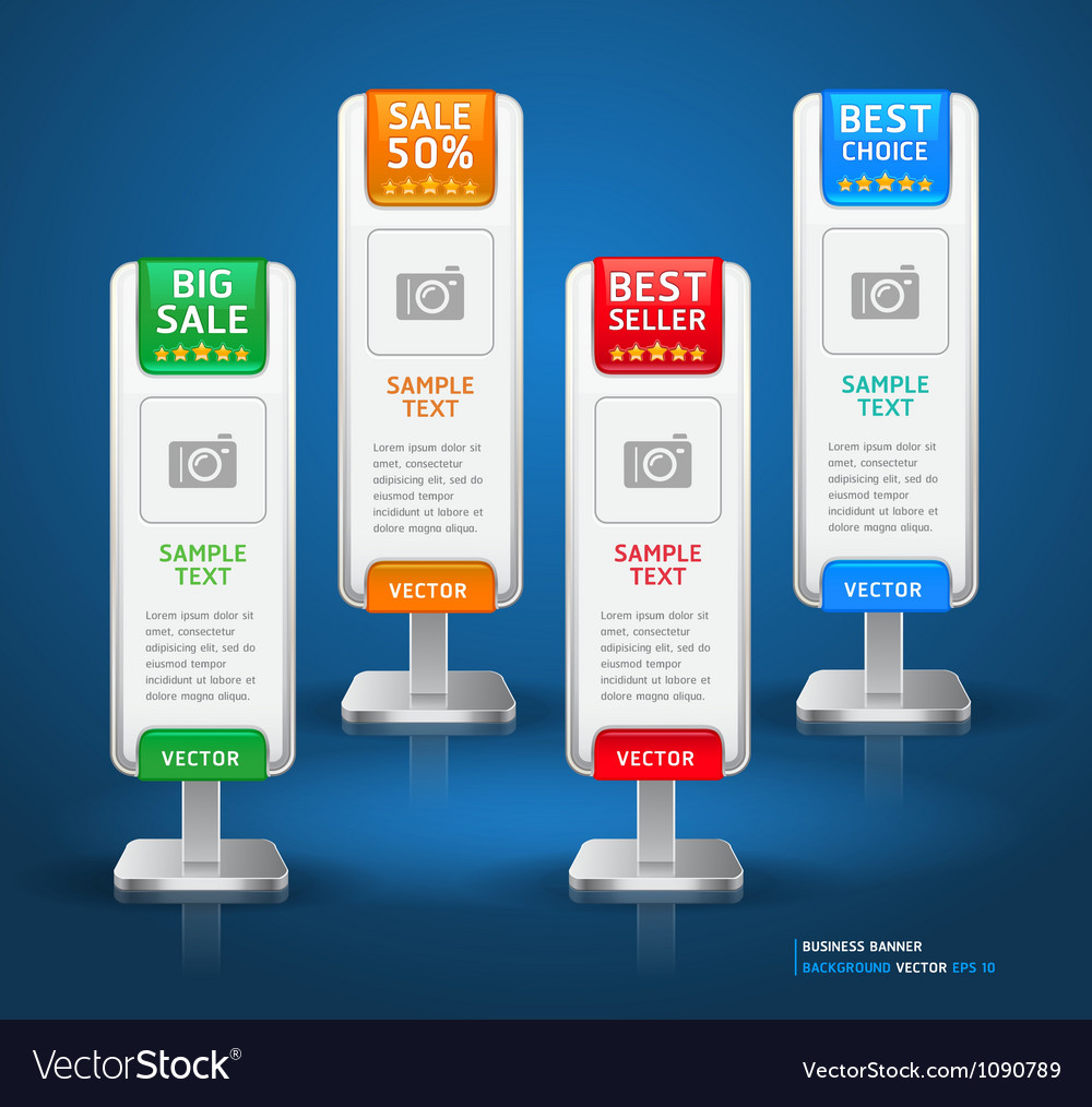 Business stand display banner and card background vector image
