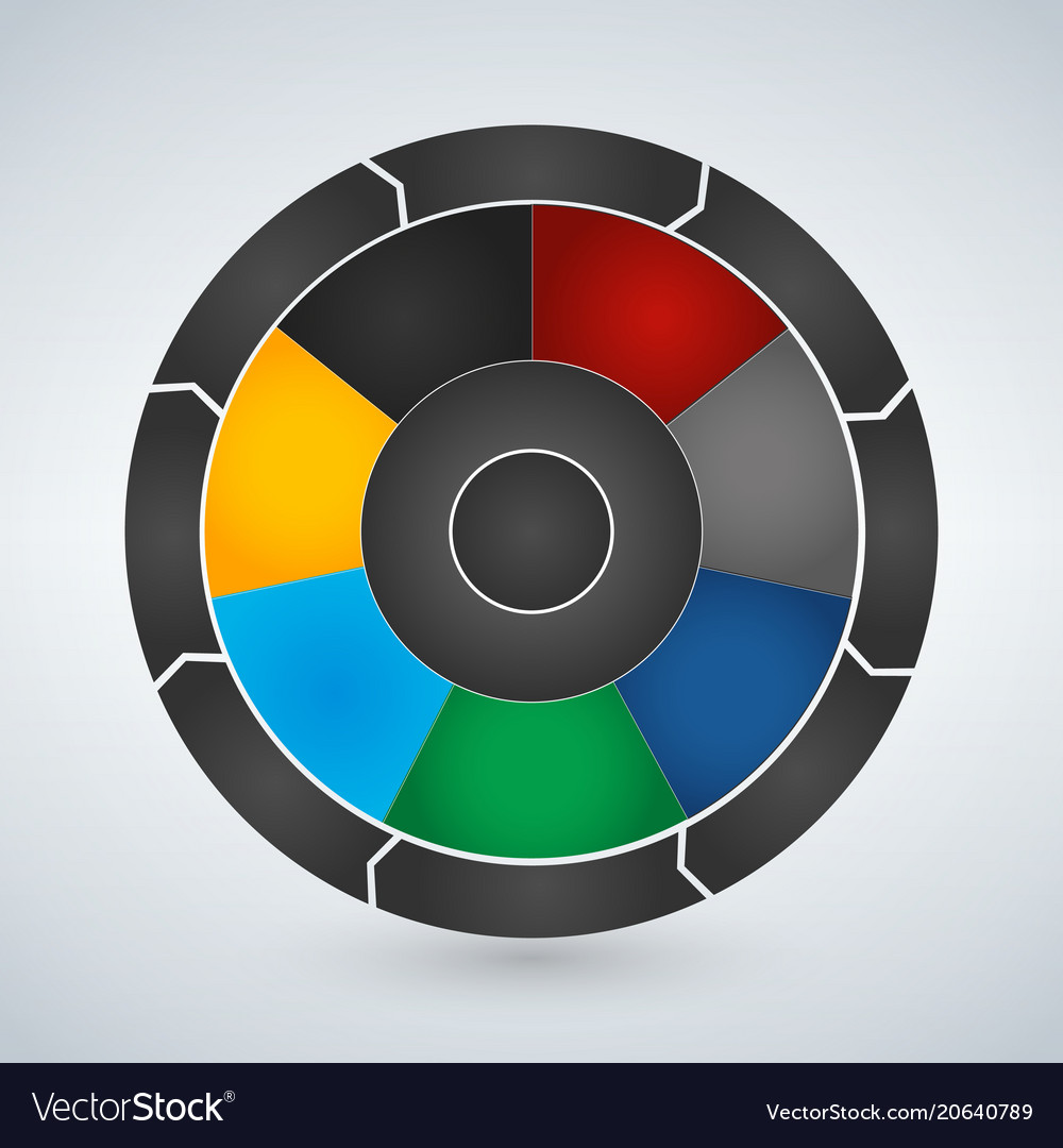 Circle elements for infographic template for